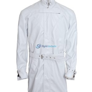 Watch Dogs Video Game Aiden Pearce White Leather Coat