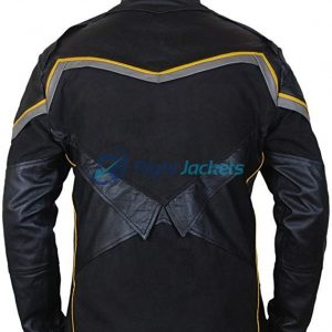 Will Smith John Hancock Black Biker Leather Jacket