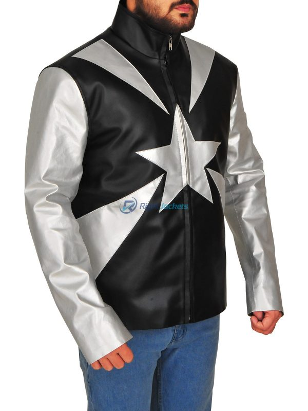 Vanilla Ice Word To Your Mother Black Leather Jacket (Copy)
