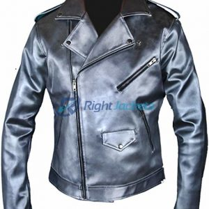 X-Men Apocalypse Evan Peters Quicksilver Double Rider Leather Jacket