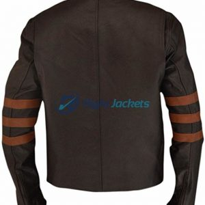 X-Men Origins Wolverine Brown Faux Leather Jacket