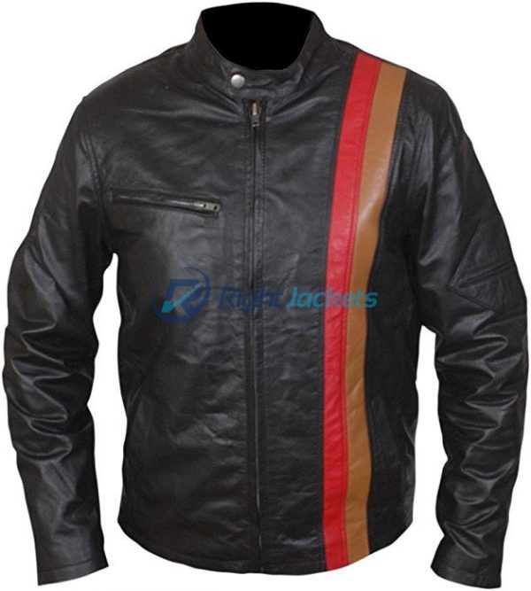 Xmen Origins James Marsden Cyclops Black Leather Jacket