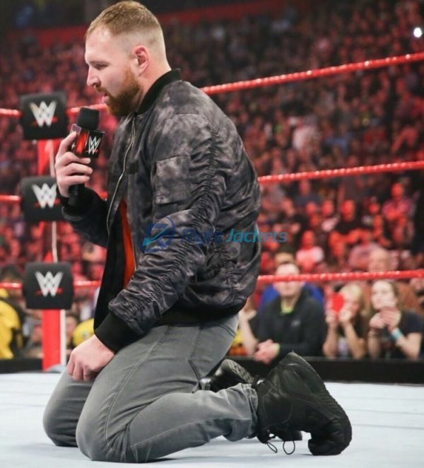 Dean Ambrose WWE Wrestle mania Black and Gray Suede Leather Jacket