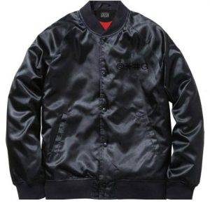 Black Cha Cha Beat Boy Bomber Jacket