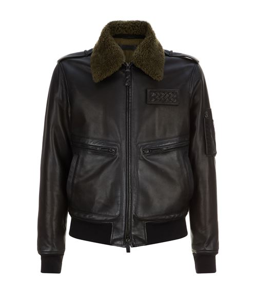 Bottega Veneta Aviator Leather Jacket