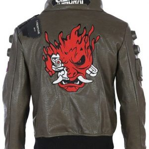 Samurai Keanu Reeves Cyberpunk 2077 Brown Leather Jacket