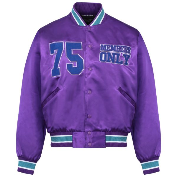 DJ Snake Members 75 Pardon Purple Satin Bomber Jicket