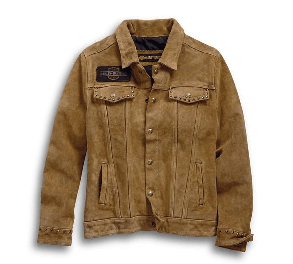 Harley Davidson Gauges Suede Leather Jacket