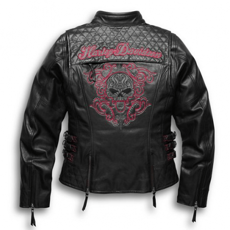 Harley Davidson Scroll Skull Leathers Jacket