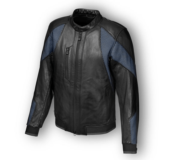 Harley Davidson Woodway Mesh & Leather Jacket
