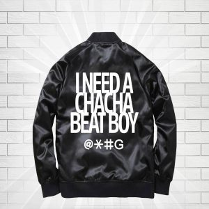 Red Cha Cha Beat Boy Bomber Satin Jackets