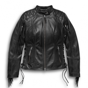 Women's Boone Fringed Leather Jacket