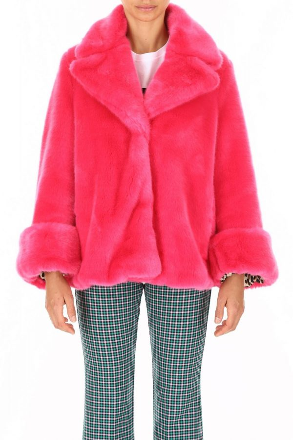 You Need To Calm Down Pink Taylor Swift Fur Coat Jacket