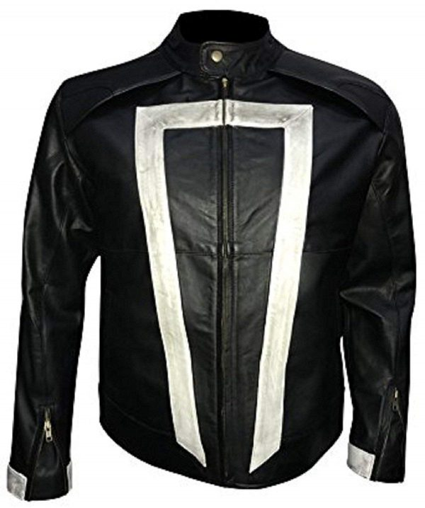 Agents Shield Robbie Synthetic Leather Jacket