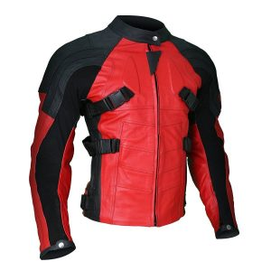 Armored Style Deadpool Biker Leather Jacket