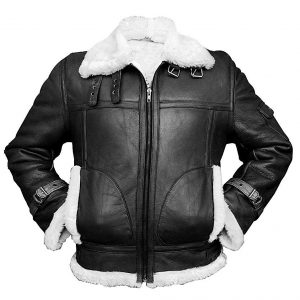 Aviator Sheepskin Shealing Bomber Leather Jacket