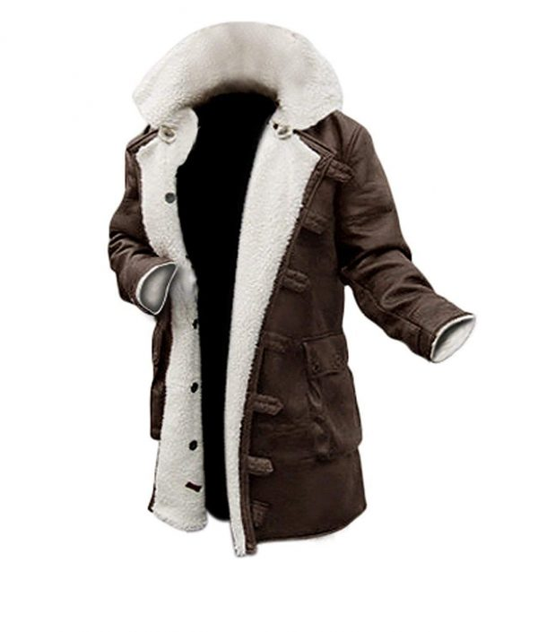 Bane Dark Knight Hardy Synthetic Brown Leather Fur Rises Coat
