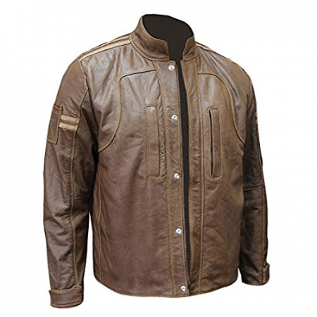 Café Racer Welding Moto Style Brown Distressed Vintage Leather Jacket