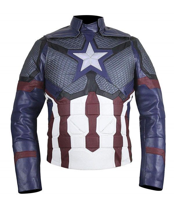 Captain America Steve Rogers Avengers 4 Endgame Leather Jacket