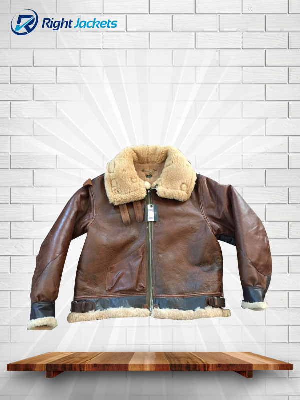 Eastman Horsehide Shearling Type B-3 Perry Leather Jacket