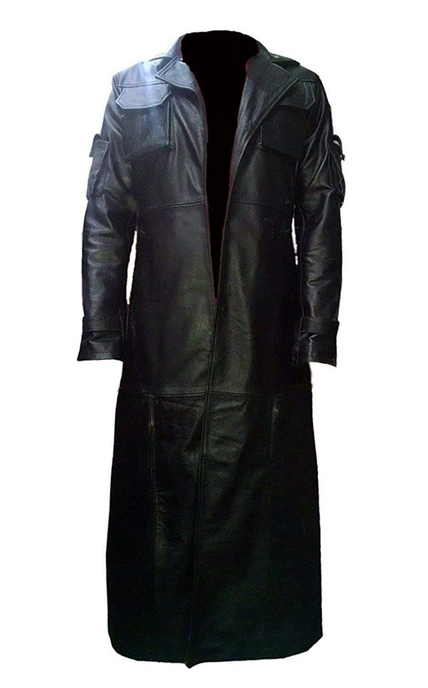 Frank Castle Jane The Punisher Leather Trench Coat