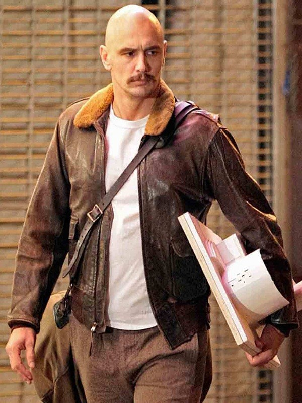 James Franco Zeroville Browns Bomber Leather Jackets