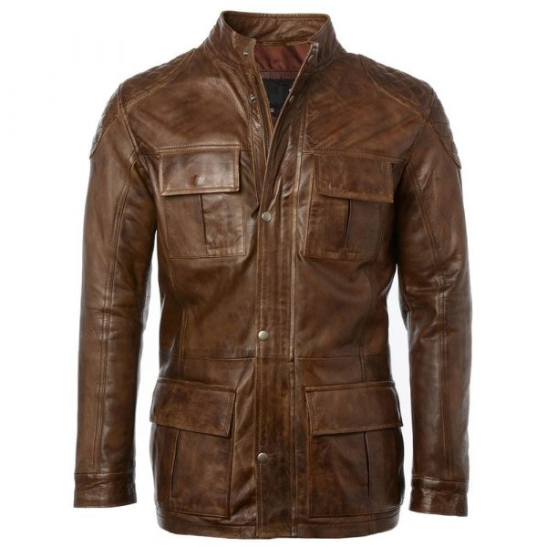 Mens Timber Leather Brontes Jacket