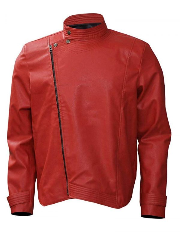 Nakamura Shinsuke Red Wrestler Faux Leather Jacket