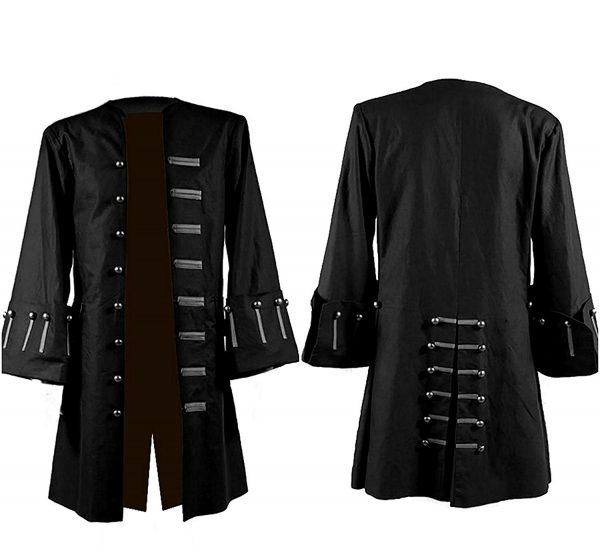 Pirates of The Caribbean Johnny Depp Black Cotton Coat
