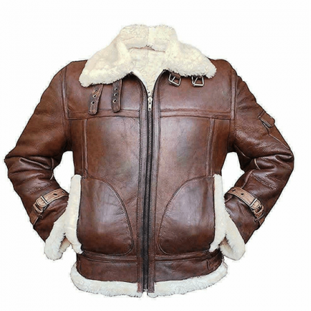RAF Aviator B3 Cowskin Fur Leather Jacket