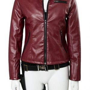 Resident Evil Claire Redfield Red Leather Jicket