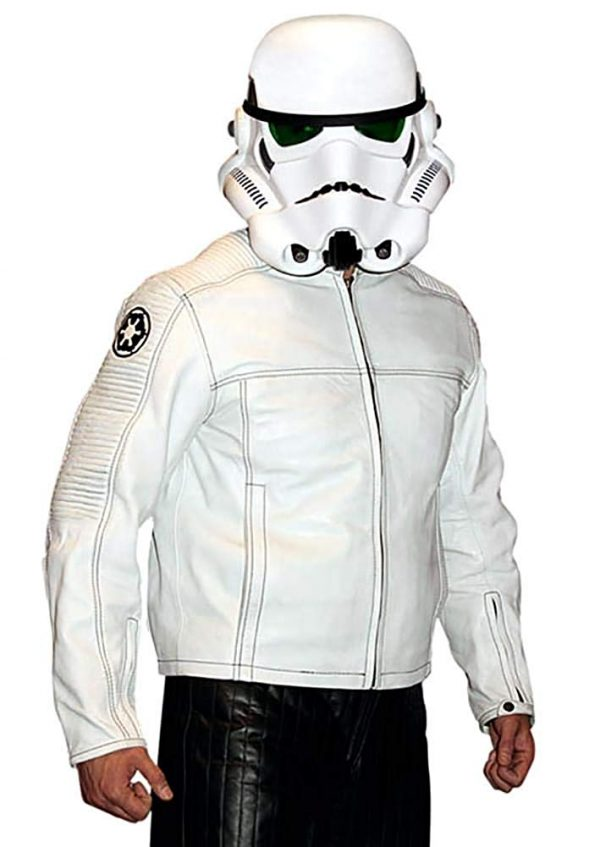 Star Wars Stormtrooper Motorcycle Leather Jacket
