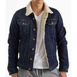 The 13th Shearling Denim Blue Jacket