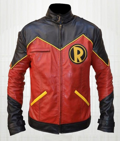 Tim Drake Robin Red Leather Jacket