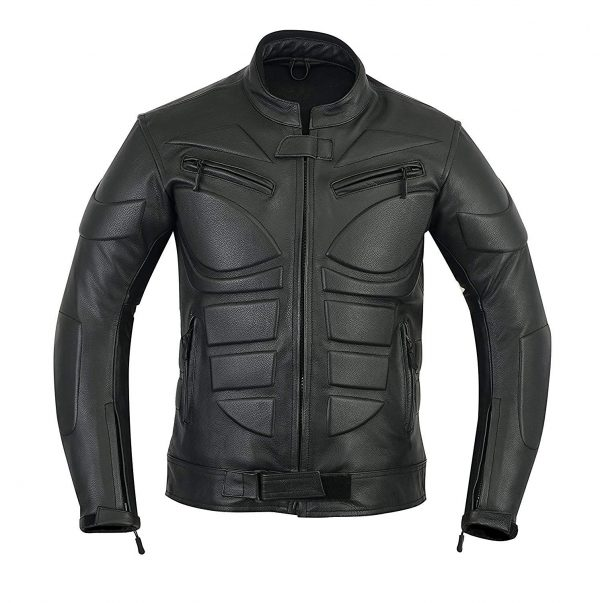 Vintage Cafe Racer Armor Power Sports Leather Jacket