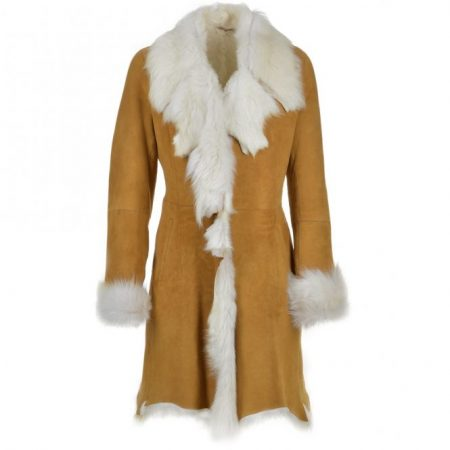 Women,s Fashion Octavia Shearling Tan Coat