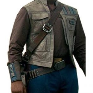 Star Wars the Rise of Skywalker Finn Leather Vest front