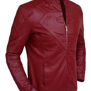 Superman Red Superville Leather Jacket