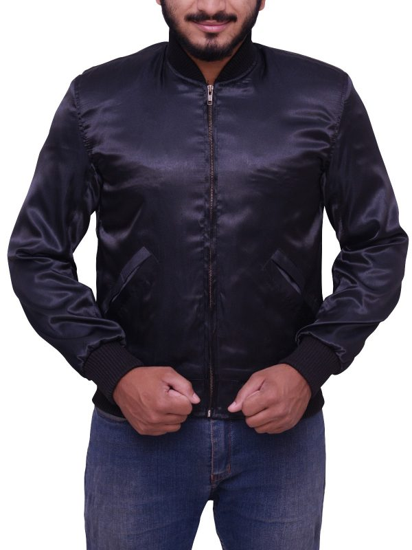 Sylvester Stallone Rocky II Satin Tiger Jacket front