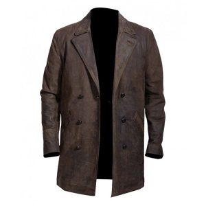 War Doctor John Hurt Brown Leather Coat