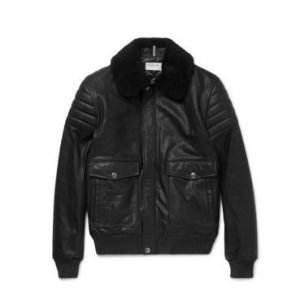 A.P.C. Military Designs Leather Jacket