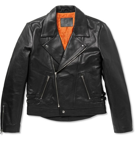 Alexander Mcqueen Black Leather Jacket