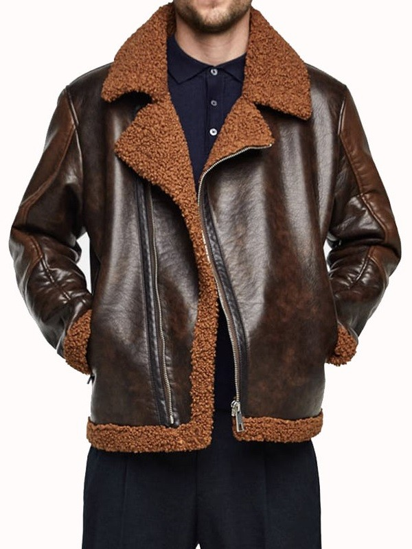 B3 Aviator Raw Dean Ambrose Shearling Jacket