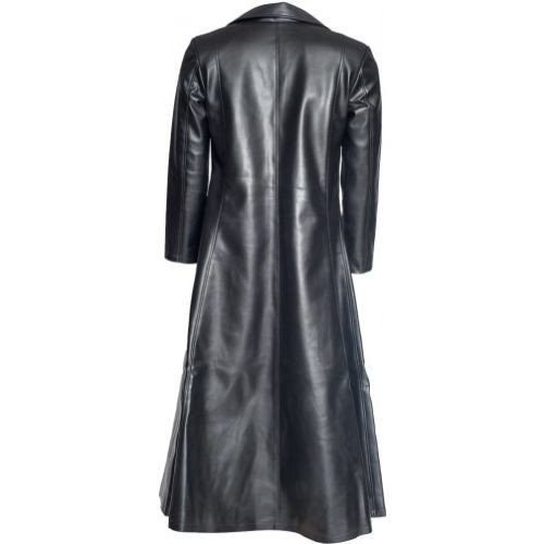 Blade Trinity Wesley Snipes Genuine Red Lining Long Trench Coat back
