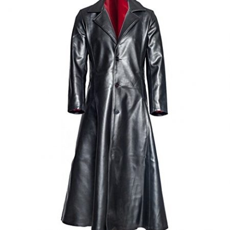 Blade Trinity Wesley Snipes Genuine Red Lining Long Trench Coat front