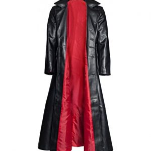 Blade Trinity Wesley Snipes Genuine Red Lining Long Trench Coat open