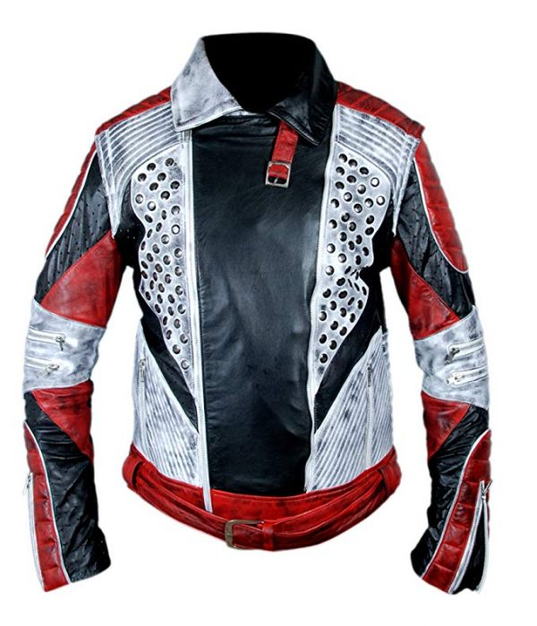 Carlos Cameron Boyce Descendants 2 Red & White Jacket close