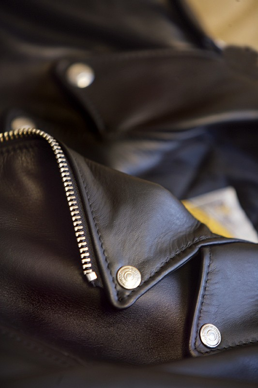 Classic Perfecto Steerhide Leather Black Motorcycle Jacket f
