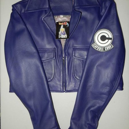 Dragon Ball Z Future Trunks Capsule Corp Leather Jacket