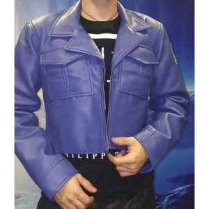 Dragon Ball Z Future Trunks Capsule Corp Leather Jacket front